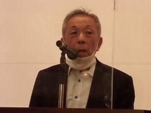 開催に向けて決意を表明する西井幾雄会長